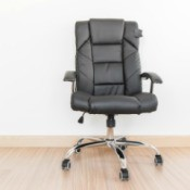 Office Chair on Wood Floor
