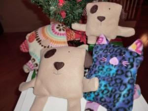 several pillows