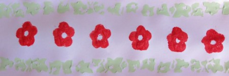 adding red flowers