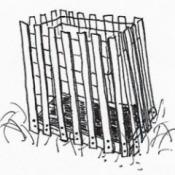 Snow Fence Compost Bin
