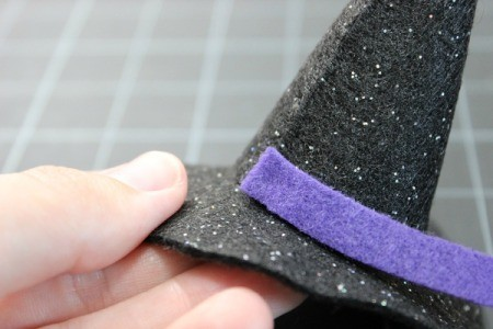 glue band to hat 1