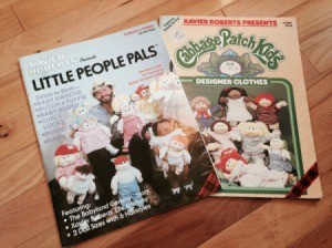 pattern books for making Cabbage Patch Kids and clothing
