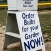 bulb catalog sign
