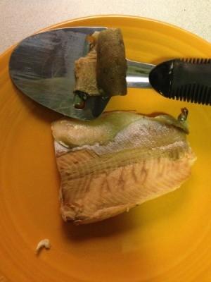 Removing Salmon Skin