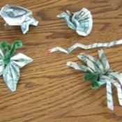 various origami figures