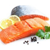 fresh salmon with lemon and herbs
