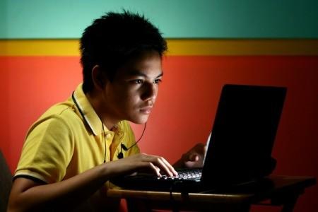 Child Checking E-mail