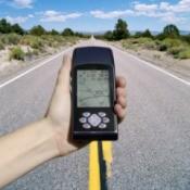 Man Holding GPS