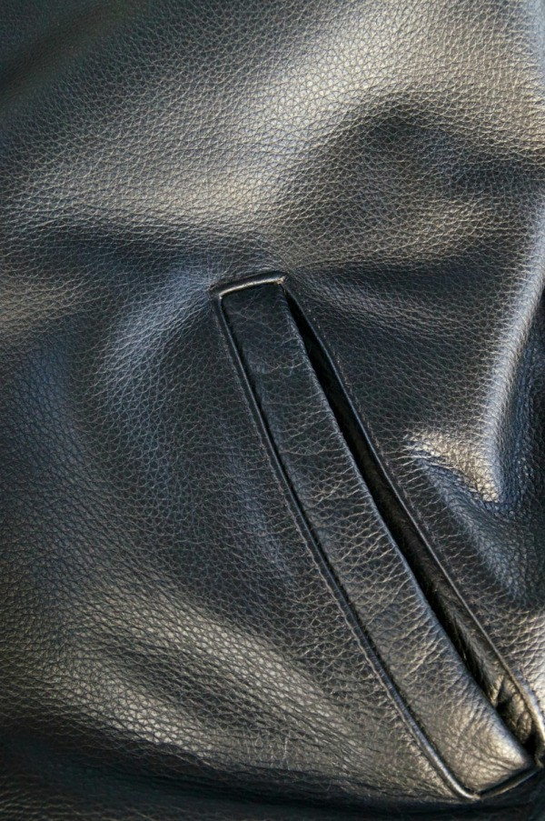 Removing Sticky Residue From Name Tag On Leather Jacket