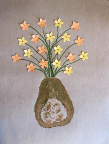 adding gems to flower centers