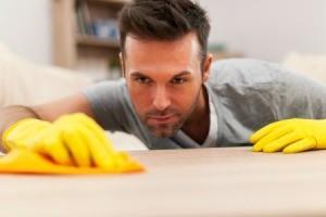 Man Polishing Furniture