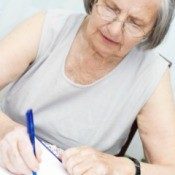 Low Income Senior Applying for Grant