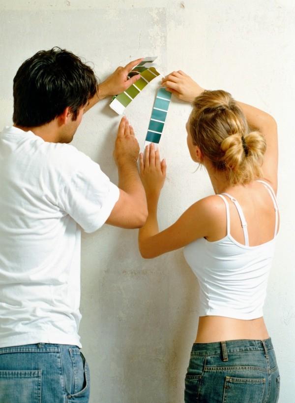 choosing paint colors. Couple Choosing Paint Colors S