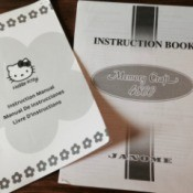 Memory Craft and Hello Kitty sewing machine manuals