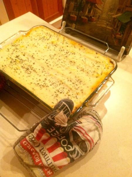 Congratulations Casserole - Cooked casserole in a pan.