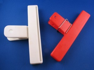 white and red chip clips
