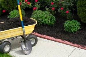 wagon of mulch