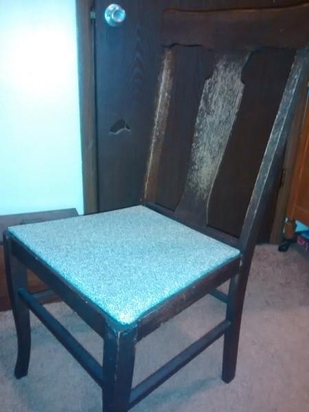 dark wood Murphy chair