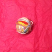 Scrap Yarn Ball - small ball of yarn