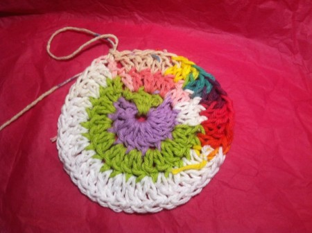 Round Hillbilly Dishcloth
