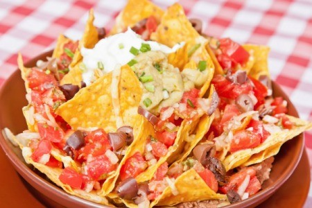 Corn Chips in Vegan Nachos