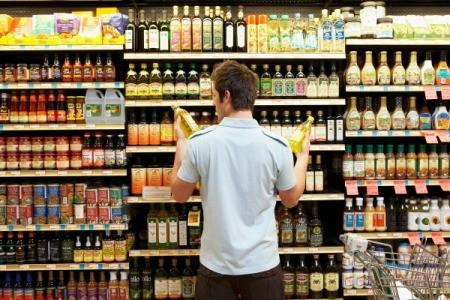 Man Shopping for Oil
