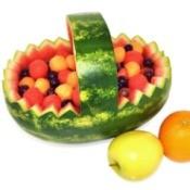 watermelon fruit salad basket