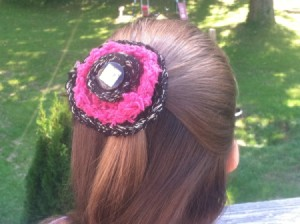 Layered Circles Hair Piece - finished