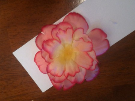 Homemade Flower Barrette - stacking the flowers