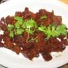 A plate of Vietnamese caramelized pork.