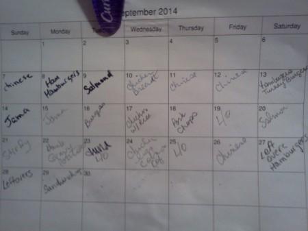 Calendar for Leftovers