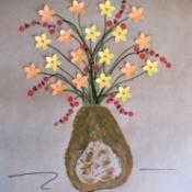 Butternut Squash Print Vase