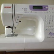 Closeup of Janome sewing machine