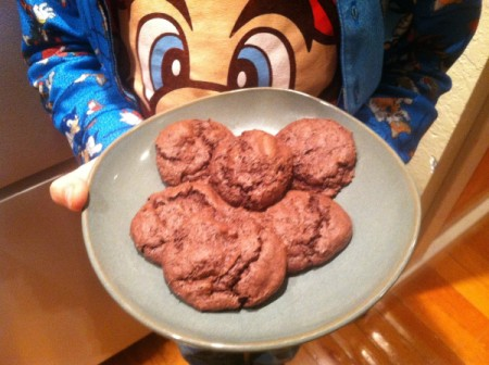 A plate of cookies made with cake mix.