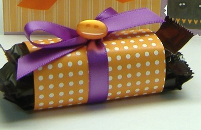 wrapped candy closeup