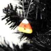 Button Candy Corn Ornament
