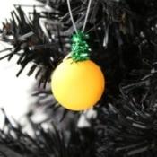 Wooden Bead Pumpkin Ornament