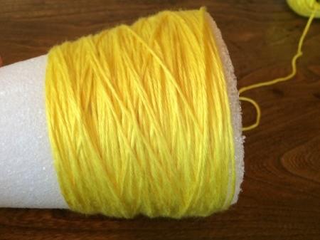 wrap yellow yarn 2
