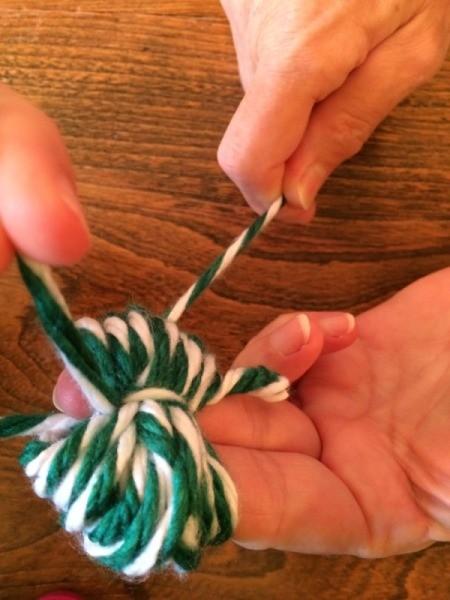 tie around wrapped yarn 2