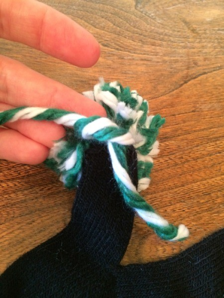 tie ends into knot