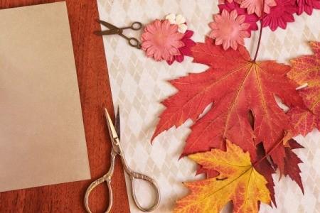 Making Fall Greeting Cards