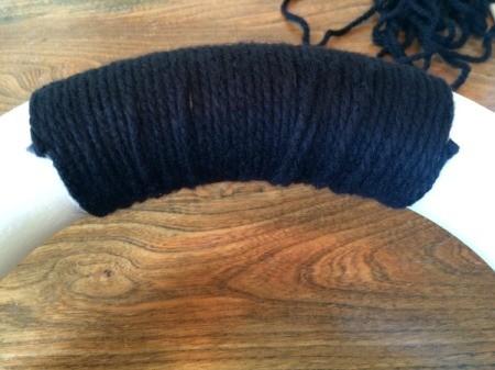 wrap with black yarn 4