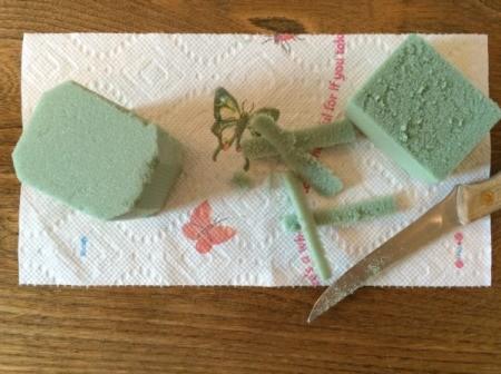 cut floral foam