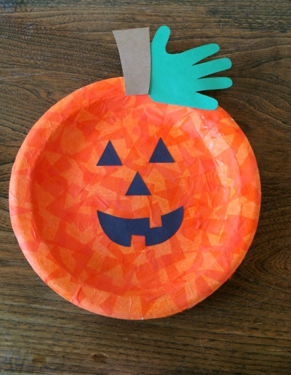 Making A Paper Plate Jack O Lantern Thriftyfun