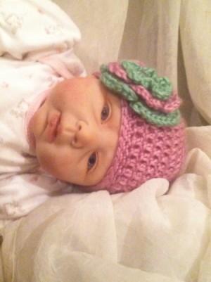 finished infant hat