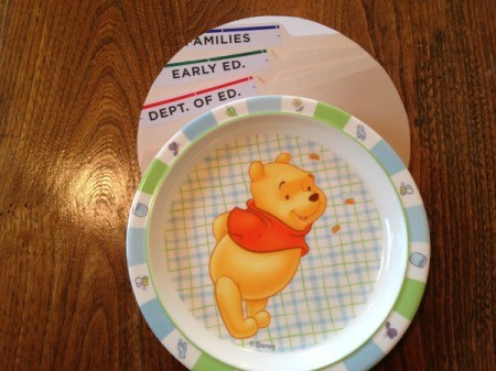 Pooh plate and finished template