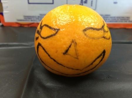 decorated orange
