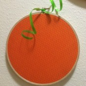 Embroidery Hoop Pumpkins 2