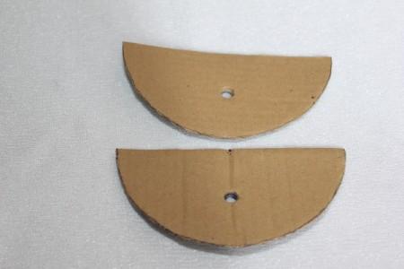 finished cardboard parts