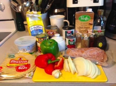 Chicken Tortilla Soup - ingredients